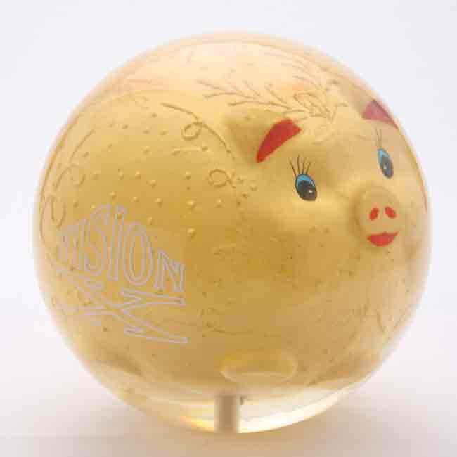 Golden Pig Bowling Ball