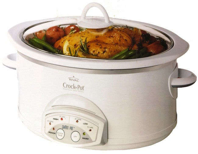 Stainless Steel Electric Pressure Cooker Rival Oval 6-Quart Smart-Pot Crock-Pot - Free Shipping ...