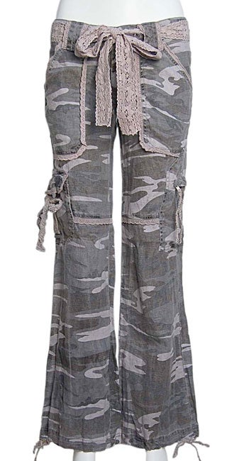 82d24b62 Shop Miss Me Camouflage Linen Cargo Pants - Free Shipping On Orders Over  $45 - Overstock - 2738345