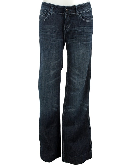 575 Women's Dark Denim Wide Leg Jeans - Free Shipping Today