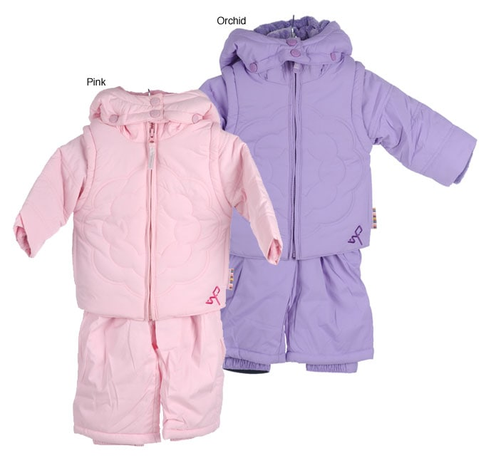 d6829f645 Shop Weatherproof Infant Girl's Floral Quilt Snow Suit - Free Shipping On  Orders Over $45 - Overstock - 2767352