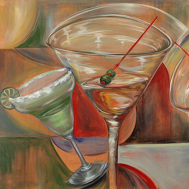 Frank Walcott Salty Martini Large Canvas Art (36 x 36)