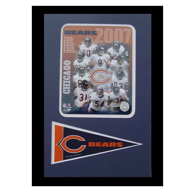 Chicago Bears 2007 Frame with Mini Pennant