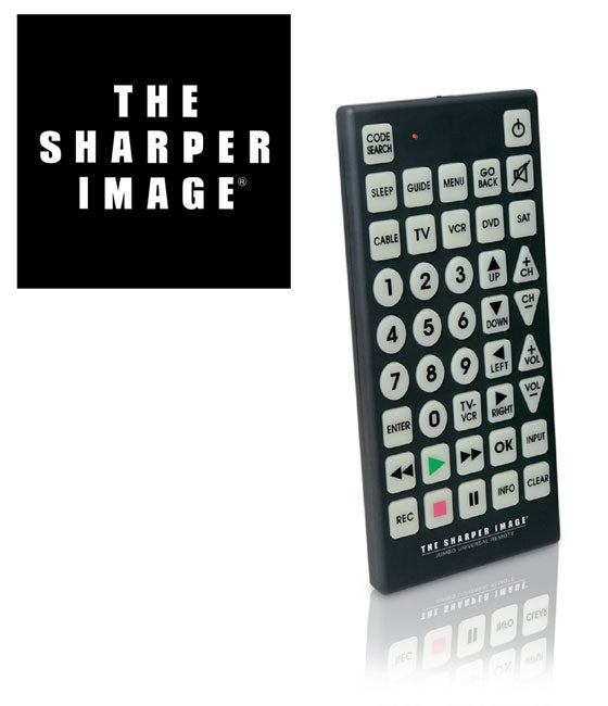 Shop The Sharper Image Universal Jumbo Remote Free Shipping On