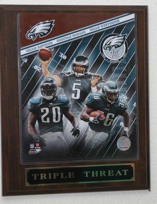 252a6195f46 Shop Big 3 Philadelphia Eagles Plaque - Free Shipping On Orders Over $45 -  Overstock - 2830327