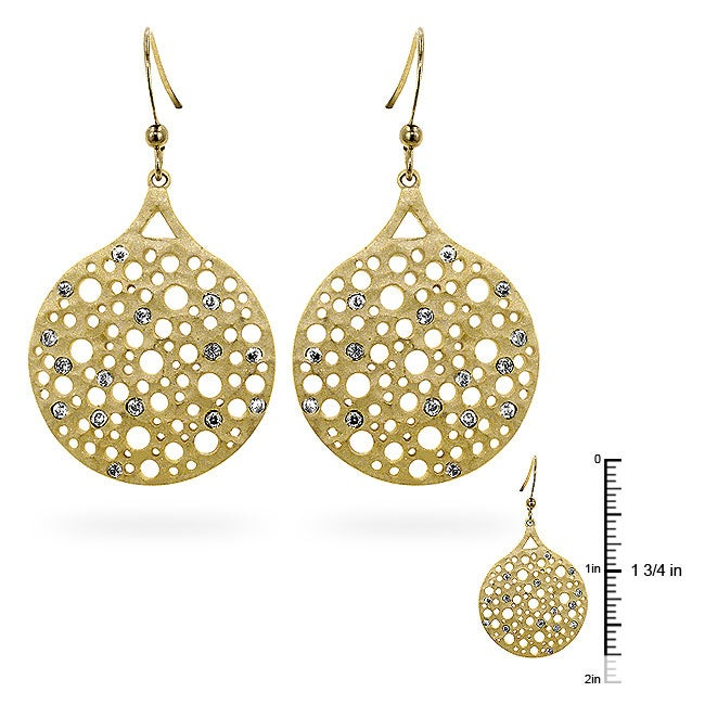 Kate Bissett Goldtone Matted Cubic Zirconia Fashion Earrings