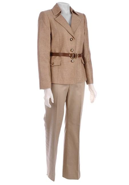 Tahari Women's Textured Spring Tweed Pant Suit