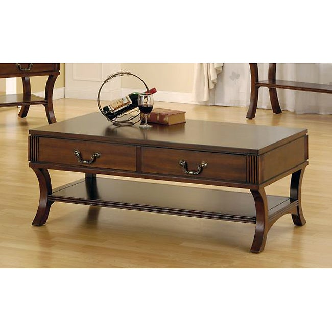 Curved Leg Coffee Table