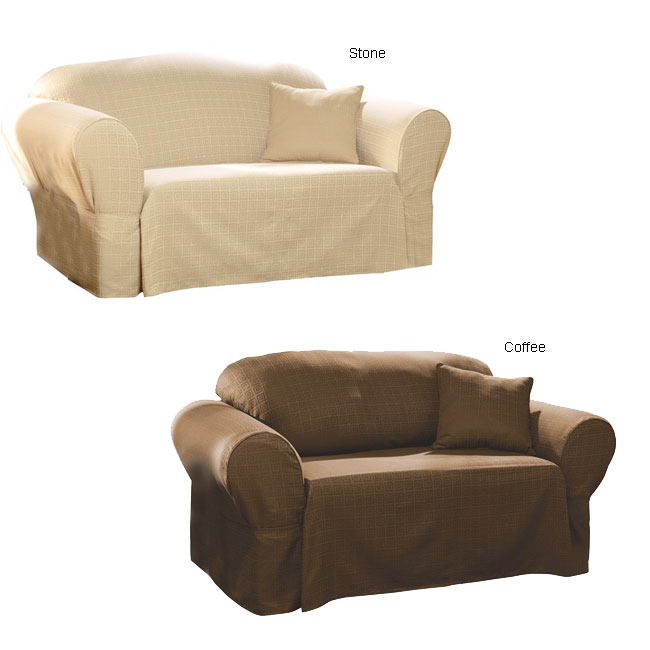 Modern Squares Sofa Slipcover Free Shipping Today