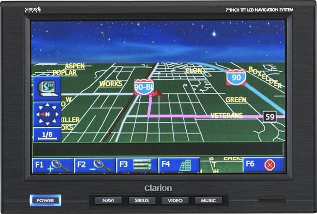 Clarion N.I.C.E 7-inch Navigation System/Satellite Radio