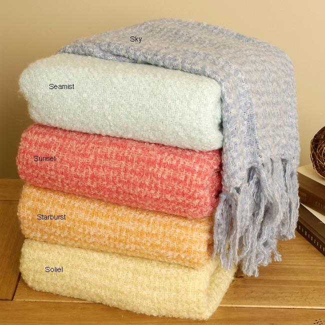 White Mountain Weavers Stratus Decorative Throw Blanket