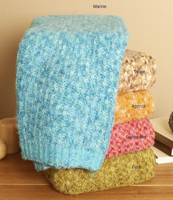 White Mountain Weavers Monaco Decorative Throw Blanket
