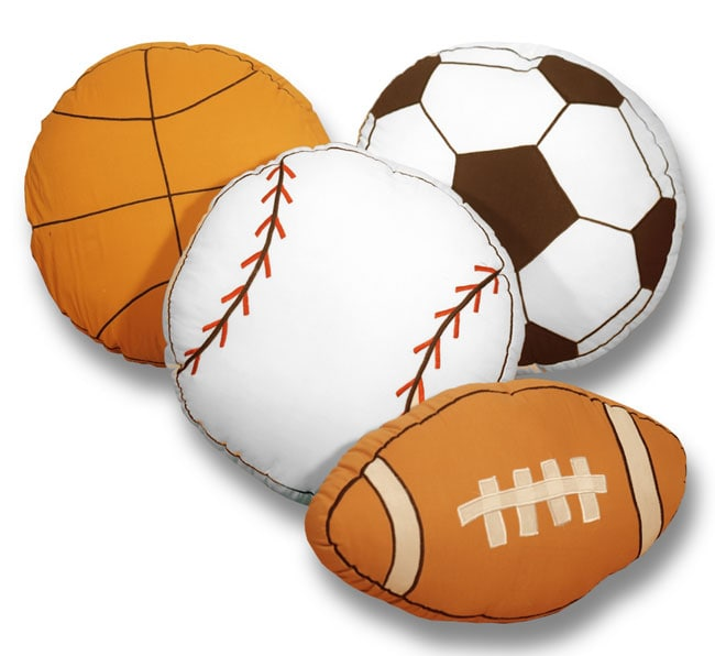 Shop Play Ball Sports Themed Decorative Pillows Free Shipping On Interesting Decorative Sports Pillows