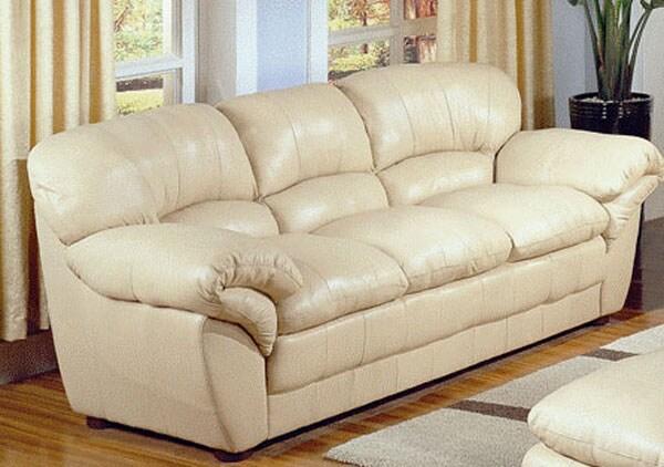 Brooke Beige Leather Sofa