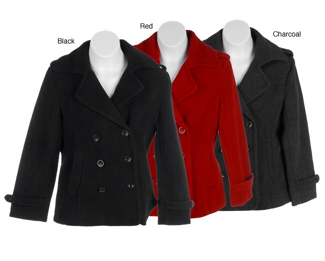 Steve Madden Girl's Double Breasted Wool Peacoat