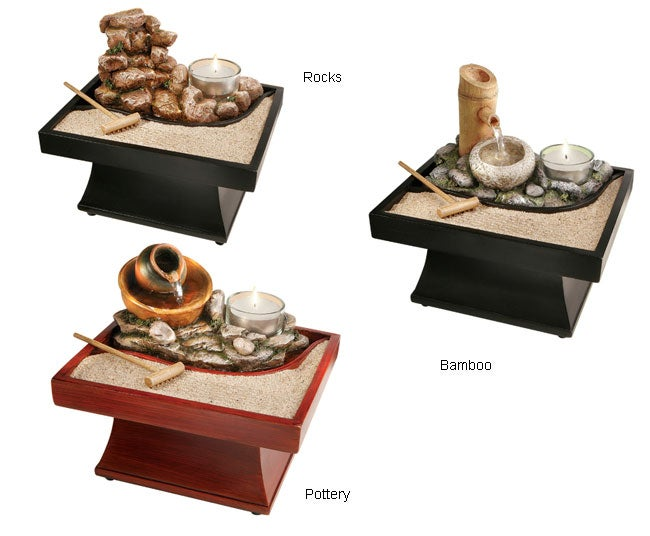 Cordless Feng Shui Tranquility Fountain Pack Of 4 Free