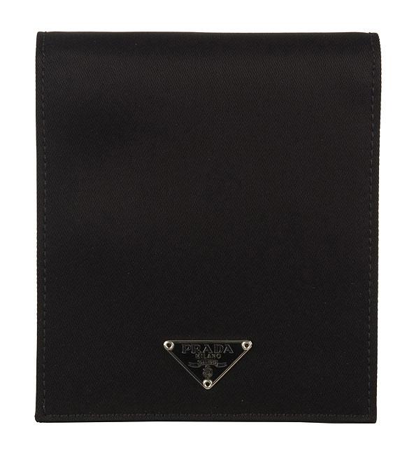 00f36450ad8607 Shop Prada Men's Nylon Metal Logo Bi-fold Wallet M513 - Free ...