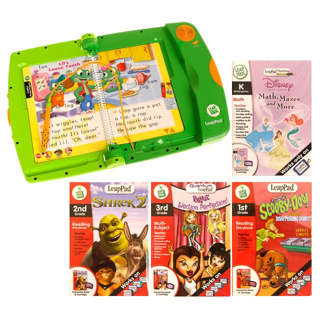 LeapFrog LeapPad Learning System 4 Book Deluxe Set