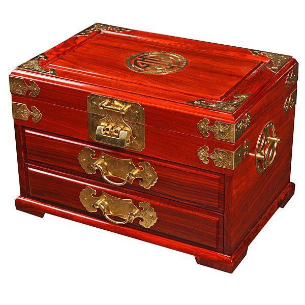 Shop Handmade Asian Golden Brass And Wood Jewelry Box