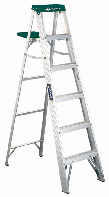 Aluminum 6 Foot 225 Pound Rated Step Ladder Free