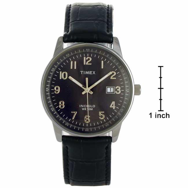 Timex Classics Menu0026#x27;s Indiglo Night Light Watch