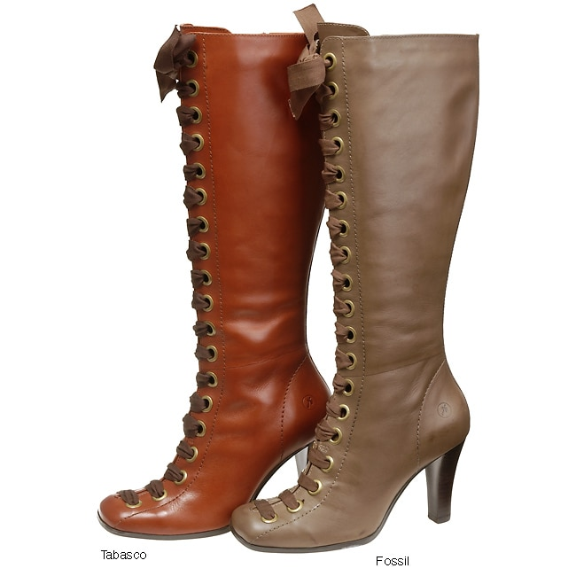 Bronx West Women's Knee High Lace Up Tie Boots