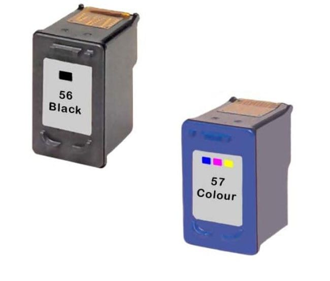 hp 56 57 ink cartridge combo remanufactured free shipping on orders over 45 overstock. Black Bedroom Furniture Sets. Home Design Ideas