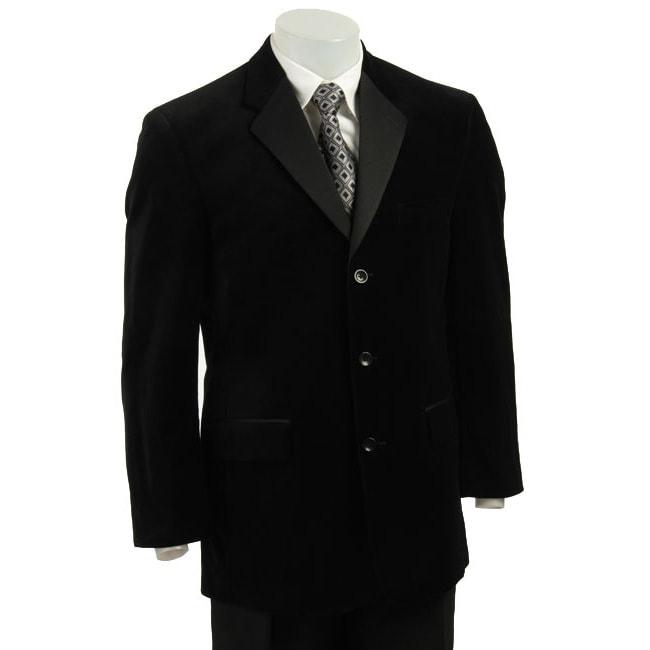 Bill Blass Men's Black Velvet Tuxedo Jacket