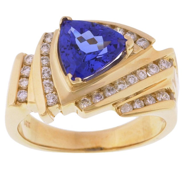 Encore By Le Vian 14k Gold Tanzanite Diamond Ring Free