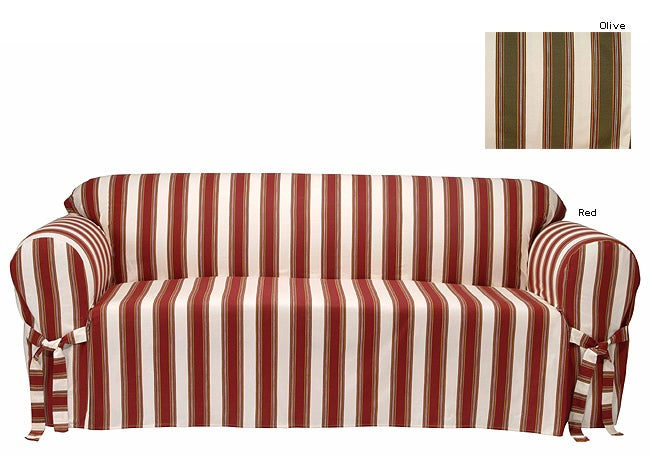 Classic Slipcovers Awning Stripe Chair Cover