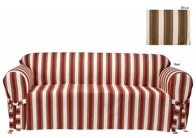 Awning Stripe Sofa Slipcover