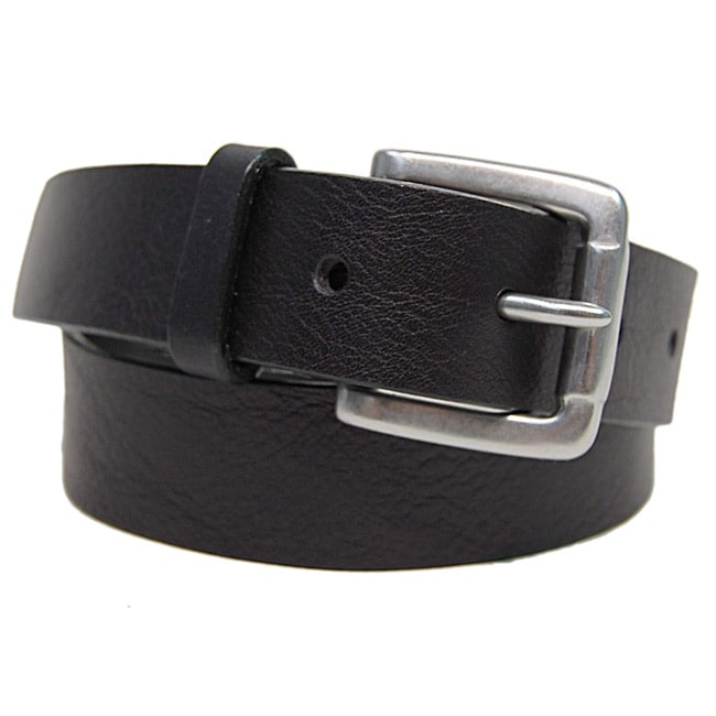 Boston Traveler Black Leather Boy's Belt