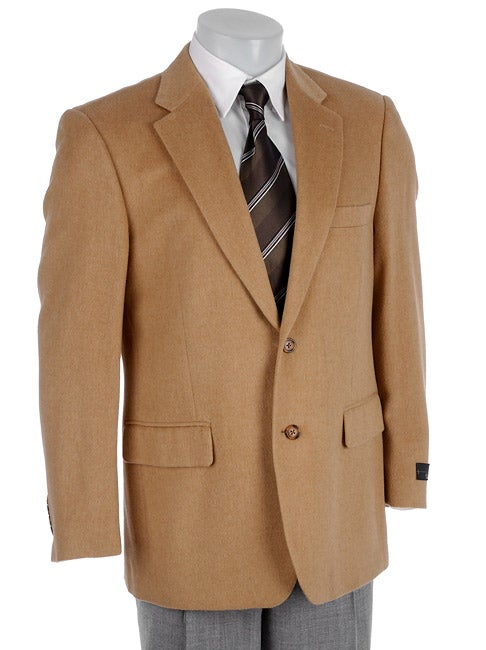 Shop Bill Blass Mens Camel Hair Sportcoat