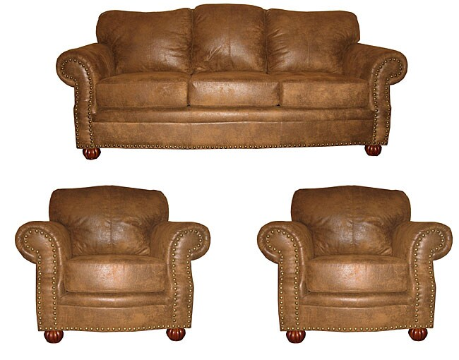Danbury Buckskin Sofa And Two Chairs Free Shipping Today