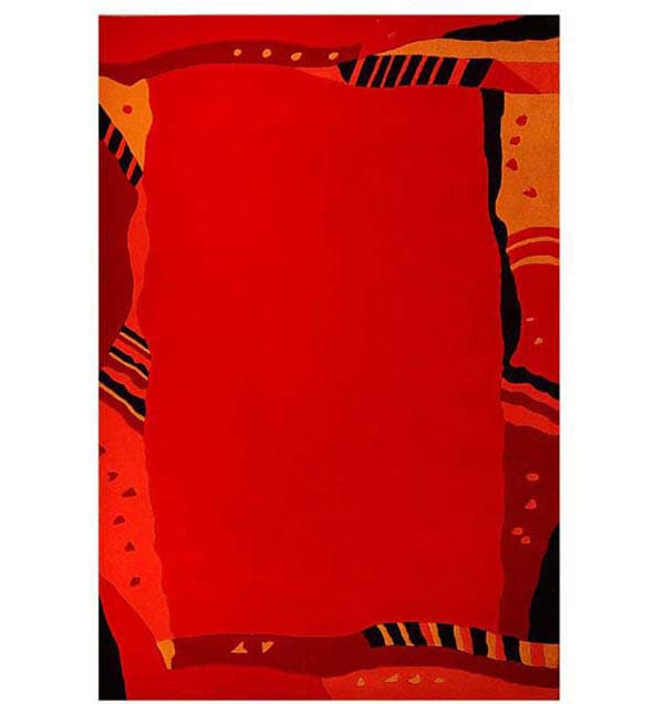 Hand-tufted Ajanta Red Wool Rug (8' x 10'6)