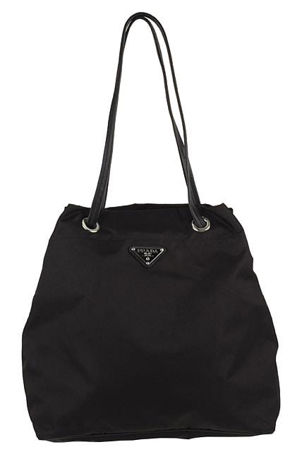 ba8a84351fa5 Shop Prada Black Nylon Drawstring Tote Bag - Free Shipping Today -  Overstock - 2902379