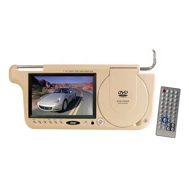 Pyle View PLDVSL7T Left Side Sun Visor Car Video Player- Tan
