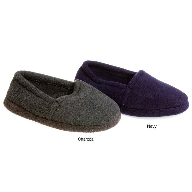 d95f9f06bb41 Shop Fireside Casuals Men s Fleece Memory Foam Slippers - Free Shipping On  Orders Over  45 - Overstock - 2906251
