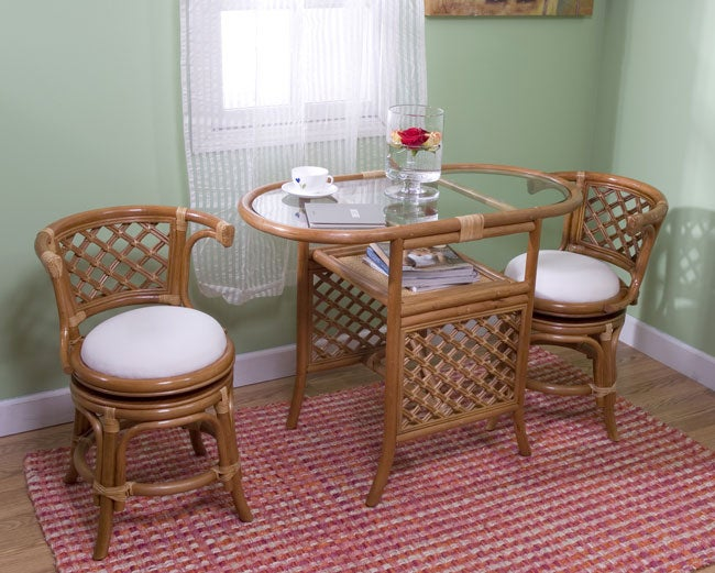 Simple Living 3 piece Cane Honeymoon Dining Set Free  : L11076367 from www.overstock.com size 650 x 521 jpeg 63kB
