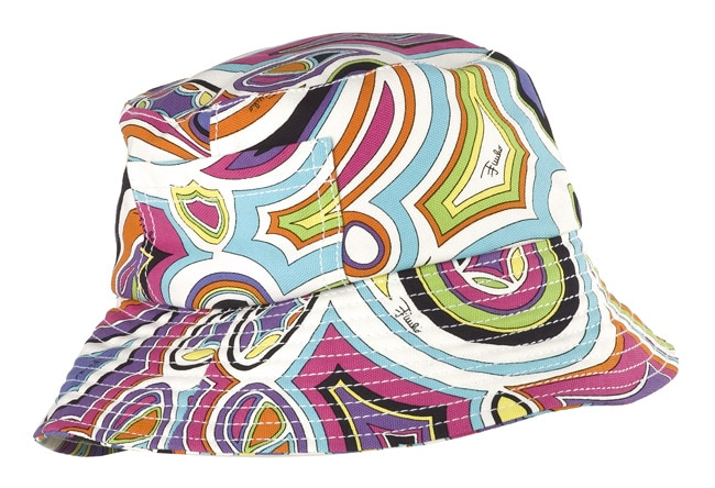 82cdd5be4a1 Shop Emilio Pucci Mulitcolor Cotton Bucket Hat - Free Shipping Today -  Overstock - 2913339
