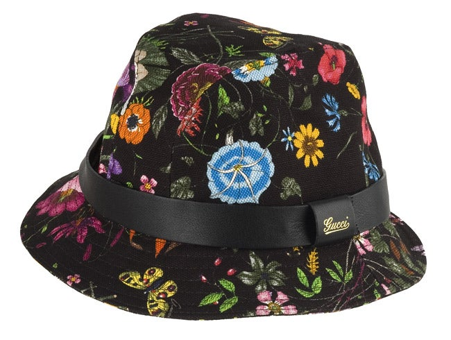 a3bcbe1da64 Shop Gucci Black  Multicolor Flower Canvas Bucket Hat - Free Shipping Today  - Overstock - 2917168