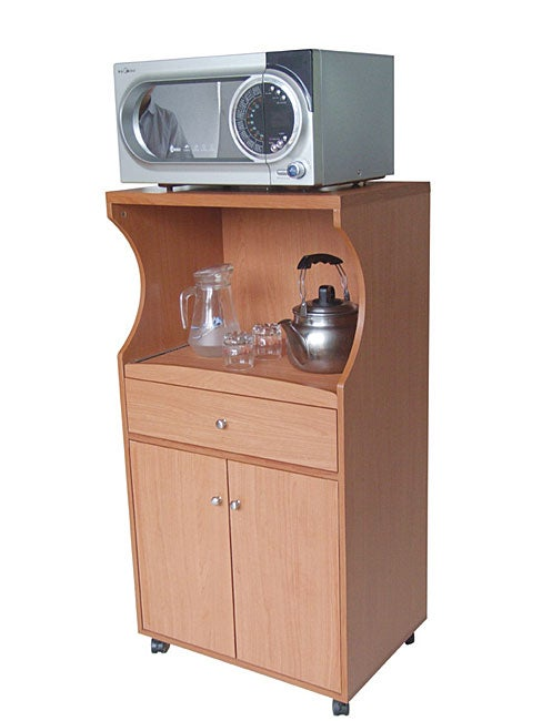 Warm Cherry Microwave Cart