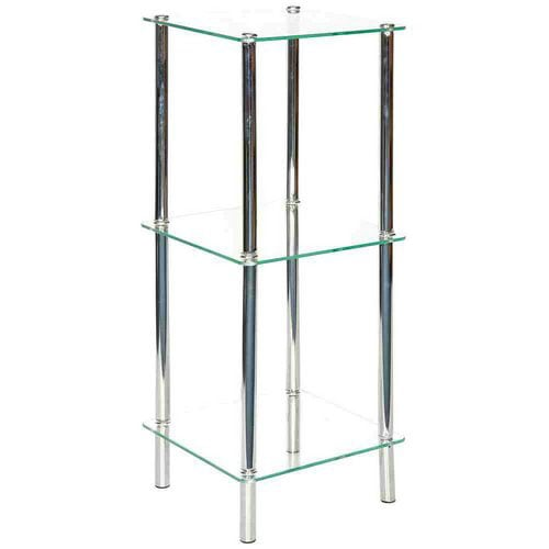 Shop Square Chrome Etagere   Free Shipping Today   Overstock   2918663