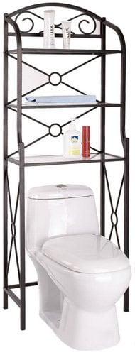 Black Metal Bathroom Space Saver