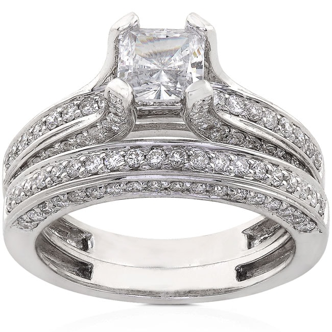Annello by Kobelli 18k Gold 1 7/8ct TDW Diamond Bridal Ring Set (G-H, VS)