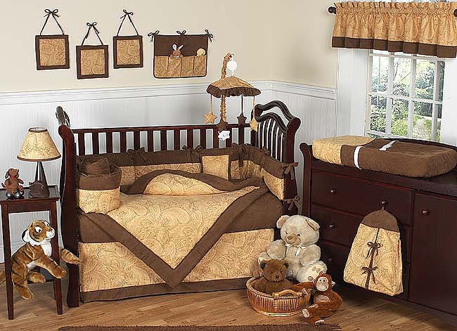Shop Camel Brown Paisley 12 Piece Baby Bedding Set Free