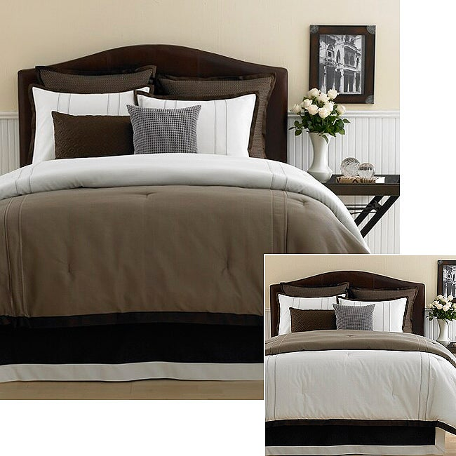 Invierno Blanco 8-piece Comforter Set (Full) - Thumbnail 0