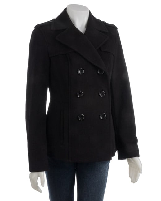 Short Black Pea Coat