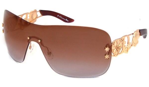 8393ea717f46a Shop Christian Dior Spun Rimless Shield Sunglasses - Free Shipping ...