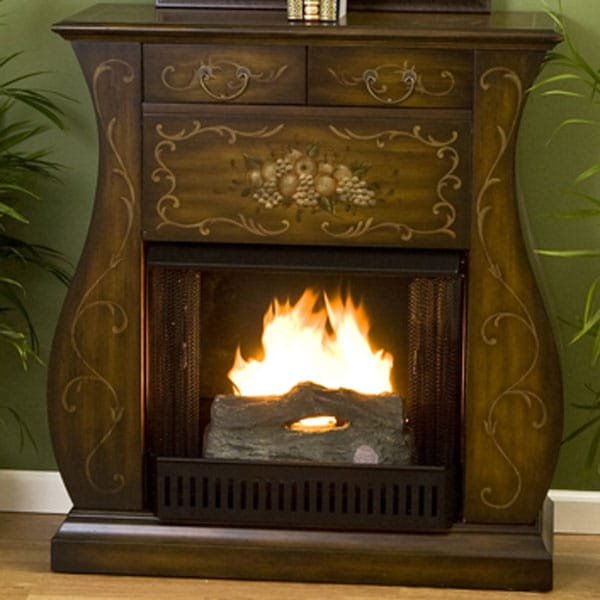 naples gel fireplace with free tealight log free
